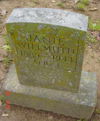 "WILLMUTH, SERRA JANE ""JANIE"" - Craighead County, Arkansas 