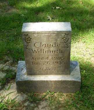 WILMUTH, CLAUDE - Craighead County, Arkansas | CLAUDE WILMUTH - Arkansas Gravestone Photos