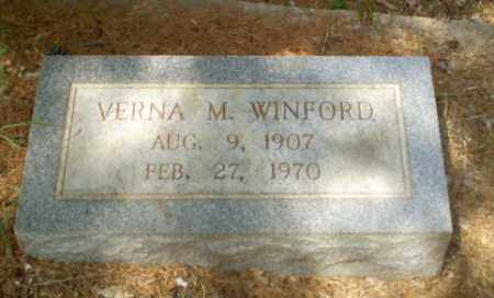 WINFORD, VERNA M - Craighead County, Arkansas | VERNA M WINFORD - Arkansas Gravestone Photos