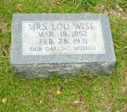 WISE, LOU - Craighead County, Arkansas | LOU WISE - Arkansas Gravestone Photos