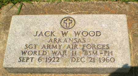 WOOD  (VETERAN WWII), JACK W - Craighead County, Arkansas | JACK W WOOD  (VETERAN WWII) - Arkansas Gravestone Photos