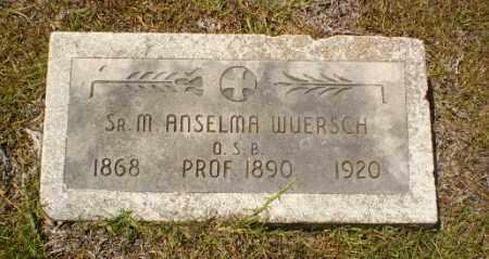 WUERSCH, SISTER M. ANSELMA - Craighead County, Arkansas | SISTER M. ANSELMA WUERSCH - Arkansas Gravestone Photos