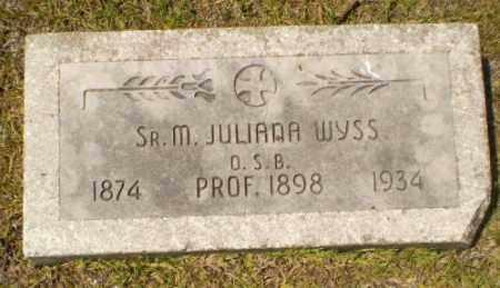 WYSS, SISTER M. JULIANA - Craighead County, Arkansas | SISTER M. JULIANA WYSS - Arkansas Gravestone Photos