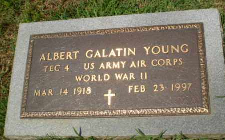 YOUNG  (VETERAN WWII), ALBERT GALATIN - Craighead County, Arkansas | ALBERT GALATIN YOUNG  (VETERAN WWII) - Arkansas Gravestone Photos