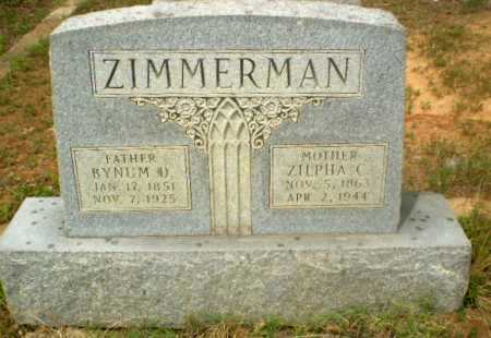ZIMMERMAN, BYNUM D - Craighead County, Arkansas | BYNUM D ZIMMERMAN - Arkansas Gravestone Photos