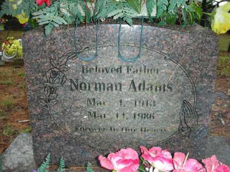 ADAMS, NORMAN - Crawford County, Arkansas | NORMAN ADAMS - Arkansas Gravestone Photos