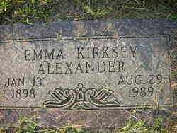 ALEXANDER, EMMA - Crawford County, Arkansas | EMMA ALEXANDER - Arkansas Gravestone Photos