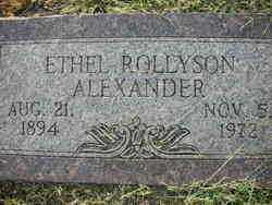 ROLLYSON ALEXANDER, ETHEL - Crawford County, Arkansas | ETHEL ROLLYSON ALEXANDER - Arkansas Gravestone Photos