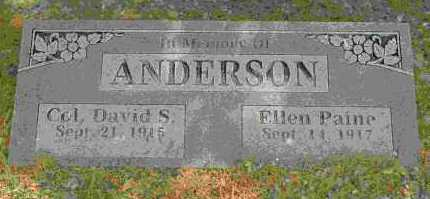 ANDERSON, COL  DAVID S - Crawford County, Arkansas | COL  DAVID S ANDERSON - Arkansas Gravestone Photos