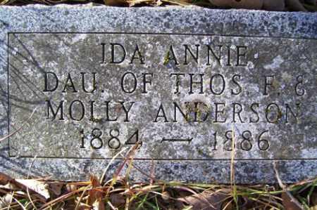 ANDERSON, IDA ANN - Crawford County, Arkansas | IDA ANN ANDERSON - Arkansas Gravestone Photos