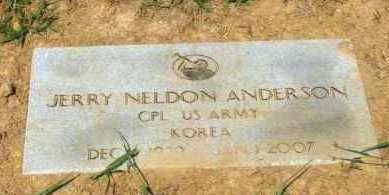 ANDERSON (VETERAN KOR), JERRY NELDON - Crawford County, Arkansas | JERRY NELDON ANDERSON (VETERAN KOR) - Arkansas Gravestone Photos
