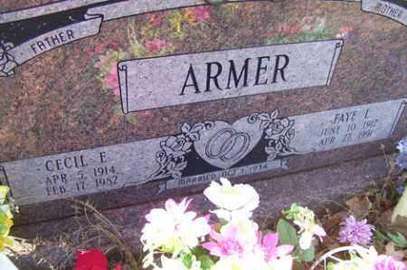 ARMER, CECIL E - Crawford County, Arkansas | CECIL E ARMER - Arkansas Gravestone Photos