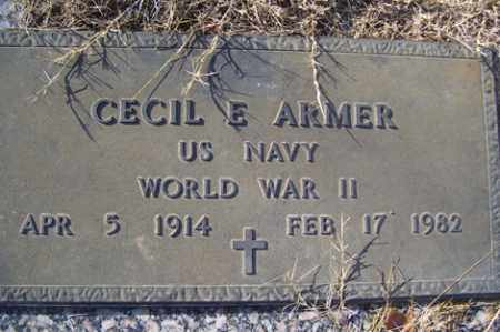 ARMER (VETERAN WWII), CECIL E - Crawford County, Arkansas | CECIL E ARMER (VETERAN WWII) - Arkansas Gravestone Photos