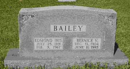 BAILEY, EDMOND IRIS - Crawford County, Arkansas | EDMOND IRIS BAILEY - Arkansas Gravestone Photos