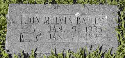 BAILEY, JON MELVIN - Crawford County, Arkansas | JON MELVIN BAILEY - Arkansas Gravestone Photos