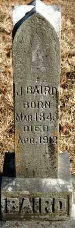 BAIRD, J - Crawford County, Arkansas | J BAIRD - Arkansas Gravestone Photos