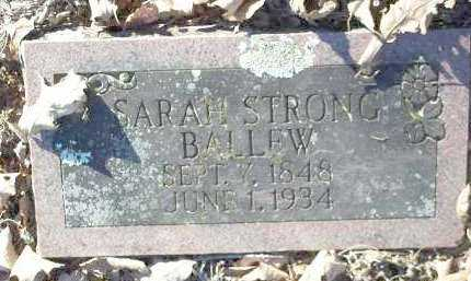 STRONG BALLEW, SARAH - Crawford County, Arkansas | SARAH STRONG BALLEW - Arkansas Gravestone Photos