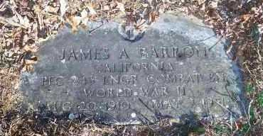 BARRON  (VETERAN WWI), JAMES A - Crawford County, Arkansas | JAMES A BARRON  (VETERAN WWI) - Arkansas Gravestone Photos
