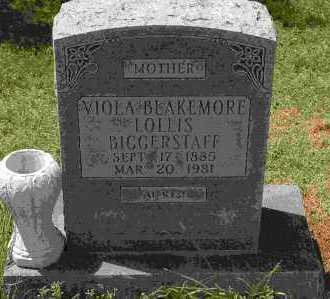 BLAKEMORE BIGGERSTAFF, VIOLA - Crawford County, Arkansas | VIOLA BLAKEMORE BIGGERSTAFF - Arkansas Gravestone Photos