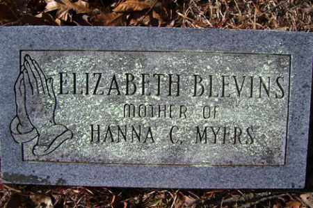 BLEVINS, ELIZABETH - Crawford County, Arkansas | ELIZABETH BLEVINS - Arkansas Gravestone Photos