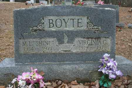 "BOYTE, M.L. ""SHINE"" - Crawford County, Arkansas 