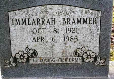 BRAMMER, IMMEARRAH - Crawford County, Arkansas | IMMEARRAH BRAMMER - Arkansas Gravestone Photos