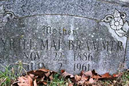 BRAMMER, MYRTLE MAE - Crawford County, Arkansas | MYRTLE MAE BRAMMER - Arkansas Gravestone Photos
