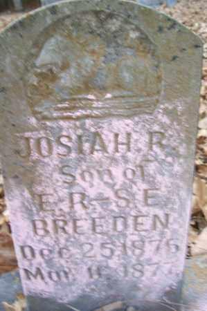 BREEDEN, JOSIAH R - Crawford County, Arkansas | JOSIAH R BREEDEN - Arkansas Gravestone Photos