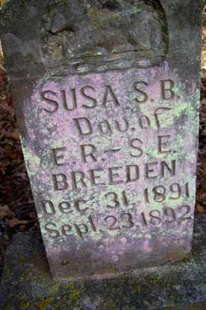 BREEDEN, SUSA S B - Crawford County, Arkansas | SUSA S B BREEDEN - Arkansas Gravestone Photos