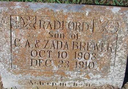 BREWER, RADFORD - Crawford County, Arkansas | RADFORD BREWER - Arkansas Gravestone Photos
