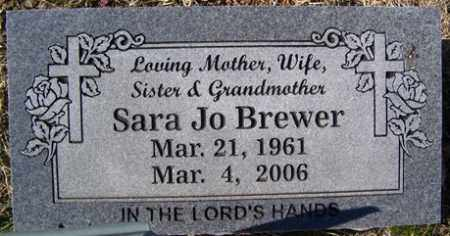 BREWER, SARA JO - Crawford County, Arkansas | SARA JO BREWER - Arkansas Gravestone Photos