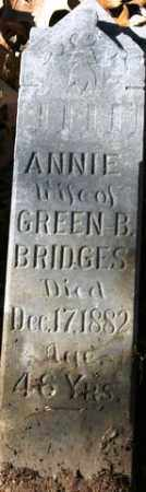 BRIDGES, ANNIE - Crawford County, Arkansas | ANNIE BRIDGES - Arkansas Gravestone Photos