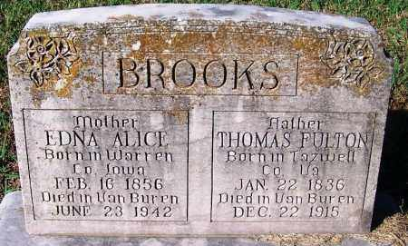BROOKS, THOMAS FULTON - Crawford County, Arkansas | THOMAS FULTON BROOKS - Arkansas Gravestone Photos