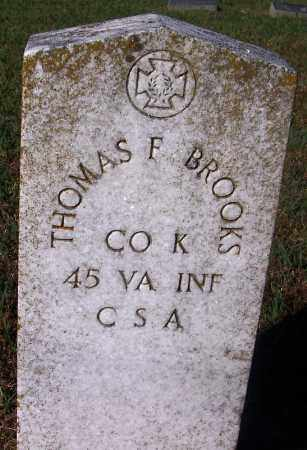 BROOKS (VETERAN CSA), THOMAS FULTON - Crawford County, Arkansas | THOMAS FULTON BROOKS (VETERAN CSA) - Arkansas Gravestone Photos