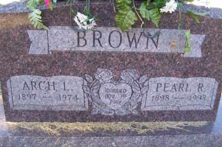 BROWN, ARCH L - Crawford County, Arkansas | ARCH L BROWN - Arkansas Gravestone Photos