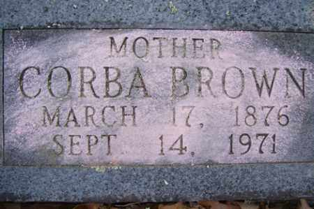WILSON BROWN, CORBA - Crawford County, Arkansas | CORBA WILSON BROWN - Arkansas Gravestone Photos