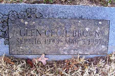 BROWN, GLEN CECIL - Crawford County, Arkansas | GLEN CECIL BROWN - Arkansas Gravestone Photos
