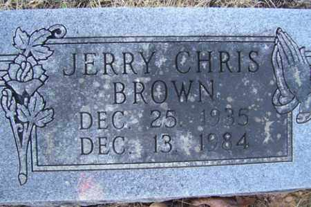 BROWN, JERRY CHRIS - Crawford County, Arkansas | JERRY CHRIS BROWN - Arkansas Gravestone Photos