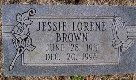 BROWN, JESSIE LORENE - Crawford County, Arkansas | JESSIE LORENE BROWN - Arkansas Gravestone Photos