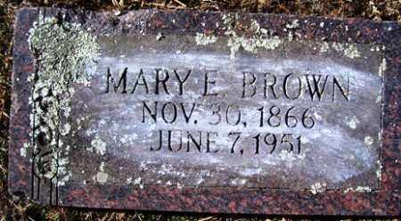 BROWN, MARY E - Crawford County, Arkansas | MARY E BROWN - Arkansas Gravestone Photos