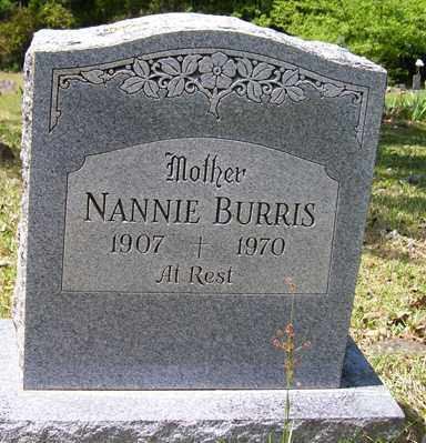 BURRIS, NANNIE - Crawford County, Arkansas | NANNIE BURRIS - Arkansas Gravestone Photos