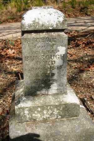 BURROUGH, GEO E - Crawford County, Arkansas | GEO E BURROUGH - Arkansas Gravestone Photos