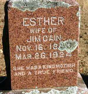 CAIN, ESTHER - Crawford County, Arkansas | ESTHER CAIN - Arkansas Gravestone Photos