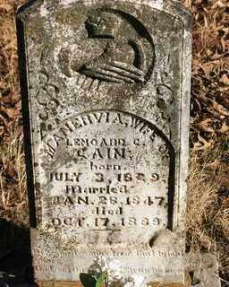 CAIN, MANERVIA A. - Crawford County, Arkansas   MANERVIA A. CAIN - Arkansas Gravestone Photos