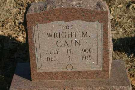 "CAIN, WRIGHT M. ""DOC"" - Crawford County, Arkansas 