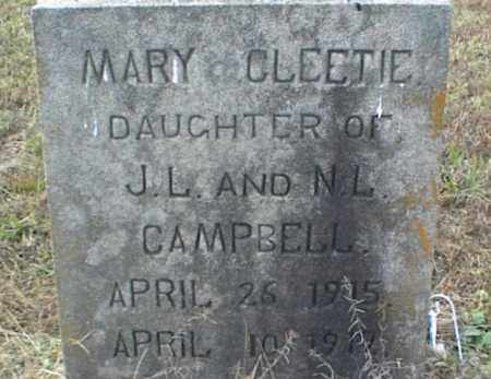 CAMPBELL, MARY CLEETIE - Crawford County, Arkansas | MARY CLEETIE CAMPBELL - Arkansas Gravestone Photos