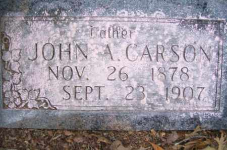 CARSON, JOHN A - Crawford County, Arkansas | JOHN A CARSON - Arkansas Gravestone Photos