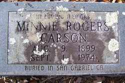 CARSON, MINNIE - Crawford County, Arkansas | MINNIE CARSON - Arkansas Gravestone Photos