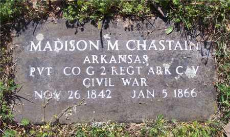 CHASTAIN (VETERAN UNION), MADISON M - Crawford County, Arkansas | MADISON M CHASTAIN (VETERAN UNION) - Arkansas Gravestone Photos