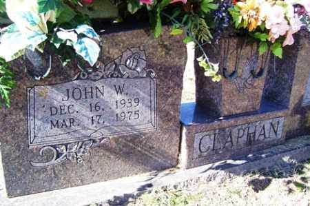 "CLAPHAN, JOHN WILLIAM ""J W"" - Crawford County, Arkansas 